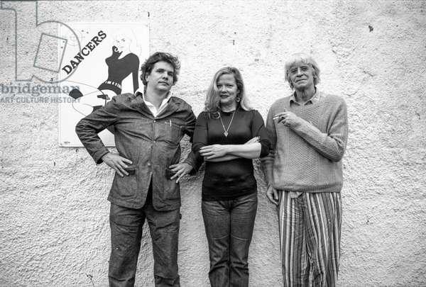 Martin Sharp, James Moores and Jane Rankin-Reid, Hommage to John Deakin Photo of Bernard Brothers, Staffordstown house, Co Meath, c 1995 (b/w photo)