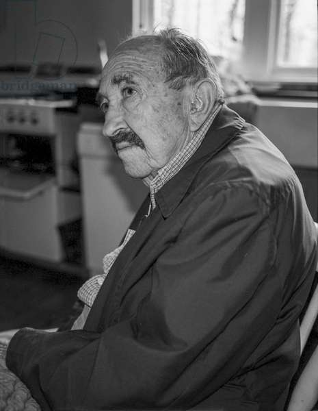 Bob Treuhaft, American Civil Rights Lawyer, represented Anti war moviments, Black Panthers, Staffordstown house, Co Meath, 1999 (b/w photo)