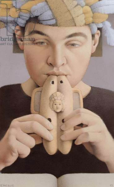 Clay Pipes, 1997 (pastel on paper)
