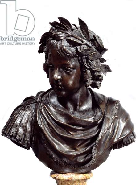 Bust in bronze of Louis XIV (1638-1715) child said to the Roman Sculpture attributed to Jacques Sarazin (1592-1660) Before 1643. Paris, Louvre Museum
