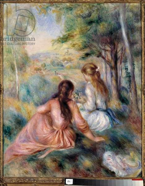 In the Pre Painting by Pierre Auguste Renoir (1841-1919) 1890 Sun. 0,81x0,65 m New York, Metropolitan museum