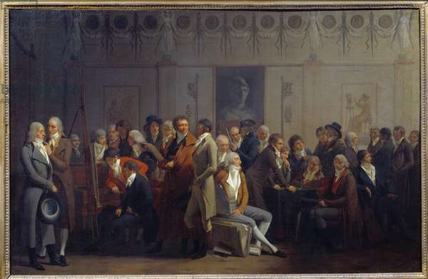 Meeting of Artists in the Workshop of the Painter Jean Baptiste Isabey, 1799 (oil on canvas)