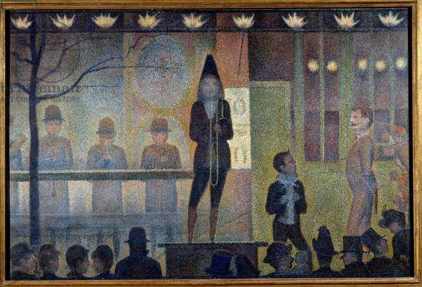 Circus Parade Painting by Georges Seurat (1859-1891) 1888 Sun. 0,99x1,49 m New York, Metropolitan museum - Circus Parade - Painting by Georges Seurat (1859-1891), oil on canvas (99 x149 cm), 1888 - Metropolitan Museum of Art New York, USA
