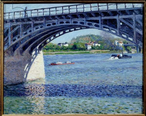 Le pont d'Argenteuil Painting by Gustave Caillebotte (1848-1894) 1883 Sun. 0,79x0,63 m Private collection