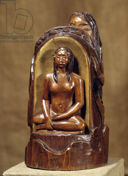 Idol a la pearl Wood sculpture, gold and pearl by Paul Gauguin (1848-1903). 1892-1893 Sun. 0,23x0,12x0,11 m Paris, musee d'Orsay