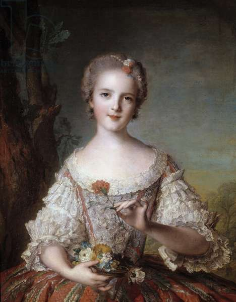 Portrait of Madame Louise of France (1737-1787) daughter of King Louis XV Painting by Jean-Marc (Jean-Marc) Nattier (1685-1766) 1748 Sun 0,98x0,85 m