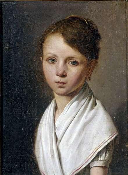 Portrait of Berthe Juliette Dubois child (1797-1849) Painting by Louis leopold Boilly (1761-1845) 19th century Sun. 0,22x0,17 m