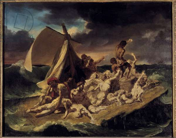 The raft of the Meduse Sketch. Painting by Theodore Gericault (1791-1824). 1816 Sun. 0.65 X 0.83 m.