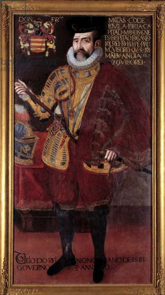Portrait of Francisco de Mascarenhas (16th century) Vice King of India Anonymous painting of the 16th century Lisbon