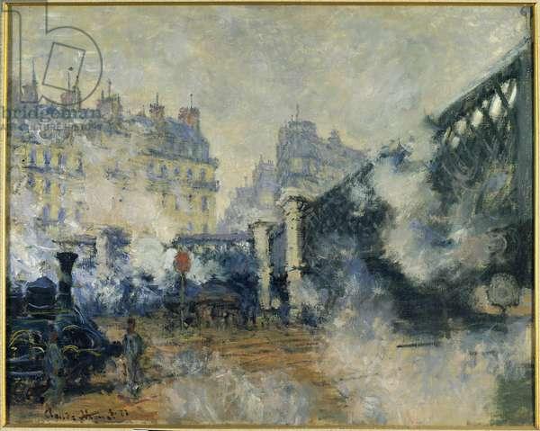 Pont de l'Europe et gare saint Lazarus (Saint-Lazare) Painting by Claude Monet (1840-1926) 1877 Sun. 0,64 x 0,81m. Paris. Marmottan Museum
