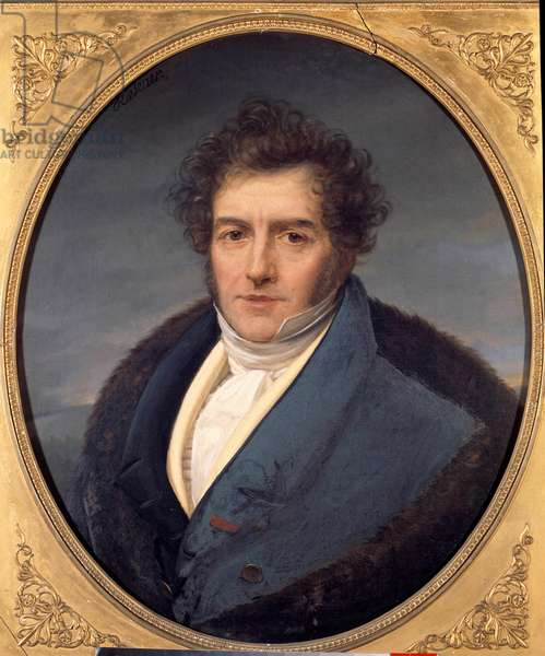 Portrait of Francois Adrien Boieldieu (1755 - 1834), French composer. Painting by Henri Francois Riesener (1767-1828), 19th century. Rouen, Musee des Beaux Arts.