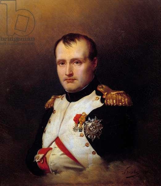 Portrait of Napoleon I (1769-1821) Decorating Iron Crown and Legion of Honour Painting by Charles Auguste Steuben (1788-1856) 1812 Paris, Musee de la Legion d'honneur