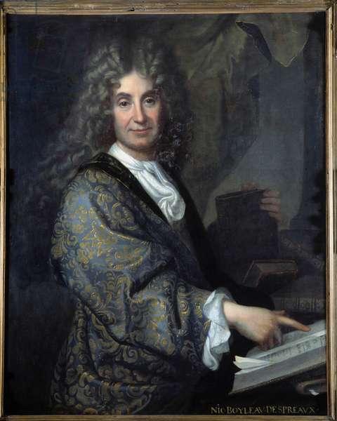 Portrait of Nicolas Boileau (1636-1711) dit Boileau Despreaux (Boileau-Despreaux), french writer - Painting by Jean Baptiste Santerre (1651-1717) - Oil on canvas - Sun 1,00 X 0,82m - Lyon, Musee Des Beaux Arts - Portrait of Nicolas Boileau (1636-1711) known as Boileau Despreaux (Boileau Preaux), English writer - Painting by Jean-Baptiste Santerre (1651 -1717) - Oil on canvas - 1.00 X 0.82 m - Beaux-Arts Museum, Lyon, France
