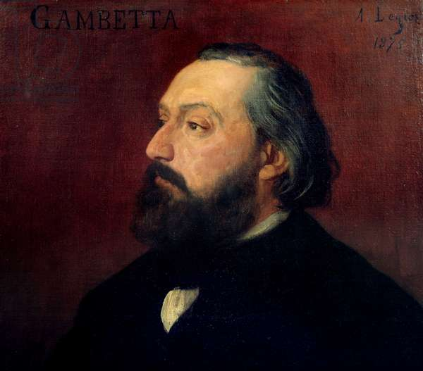 Portrait of Leon Gambetta (1838-1882) French politician. Painting by Alphonse Legros (1837-1911) from 1875. Orsay Museum.