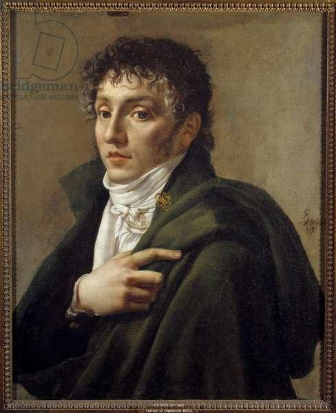 Portrait of the composer Etienne Mehul (1763-1817) Painting by Antoine Jean Gros (1771-1835) 1799 Sun. 0,65x0,53 m Paris, Musee Carnavalet