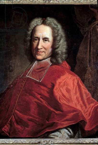 Portrait of Cardinal Guillaume Dubois, Archveque of Cambrai (1656-1723) Painting by Hyacinthe Rigaud (1659-1743). 18th century. Brives. Musee Labenche - Portrait of the Cardinal Guillaume Dubois, Archbishop of Cambrai (1656-1723). Painting by Hyacinthe Rigaud (1659-1743). 18th century. Labenche museum, Brives, France
