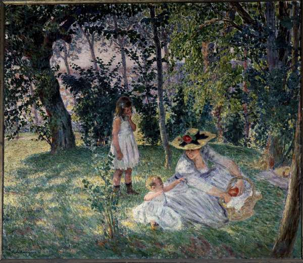 the taste on the grass Painting by Henri Lebasque (1865-1937) 20th century Angers, Museum of Fine Arts