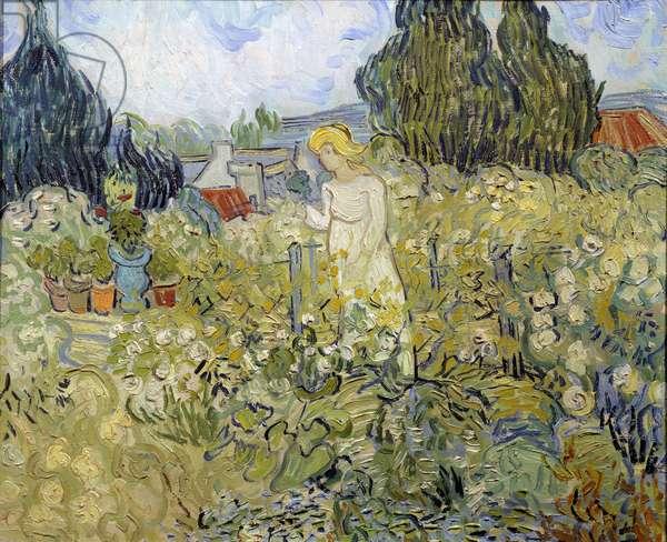 Mademoiselle Gachet dans son jardin à Auvers sur Oise (Auvers-Sur-Oise) Painting by Vincent van Gogh (1853-1890) 1890 Sun. 0,46 x 0,55 m Paris, musee d'Orsay