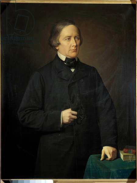 Portrait of Charles Forbes, Count of Montalembert (1810-1870) journalist and politician Painting by Auguste Pichon (1805-1900). 1879.