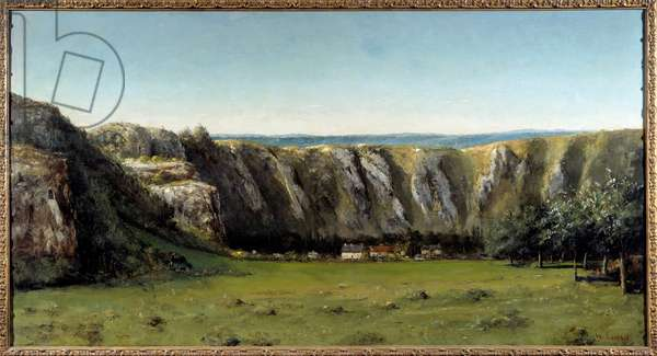 Rocky landscape around Flagey. Painting by Gustave Courbet (1819-1877), 19th century. Oil on canvas. Dim: 0,85 x 1,60m. Paris, Musee d'Orsay