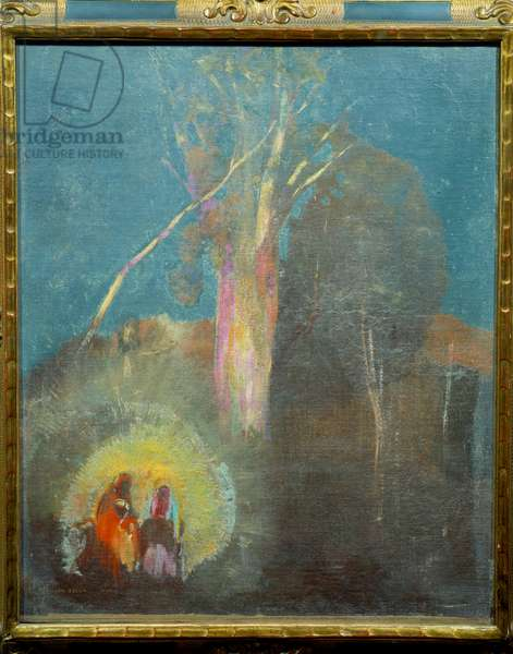 The flight in Egypt Painting by Odilon Redon (1840-1916) 19th century Sun. 0,45x0,38 m Paris, Musee d'Orsay