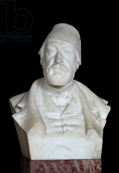 Bust of the Egyptologist Auguste Mariette Said Mariette Pasha (1821 - 1881), 19th century (marble)