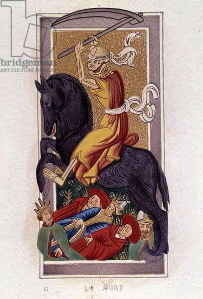 La Mort Tarot Play Card. From an original from the Middle Ages. Paris, B.N.