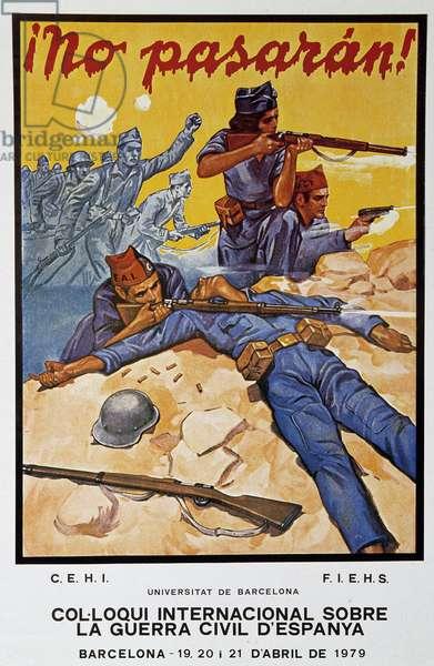 "Spanish Civil War (1936-1939): ""No Pasaran"""" 20th century Paris, Museum of the Two World Wars"