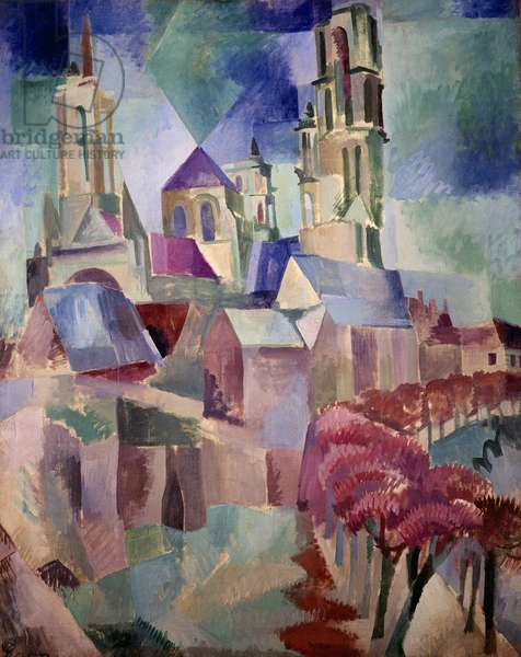 Les Tours de Laon Painting by Robert Delaunay (1885-1941) 1912 Sun. 1,3x1,62 m Paris, musee national d'art moderne