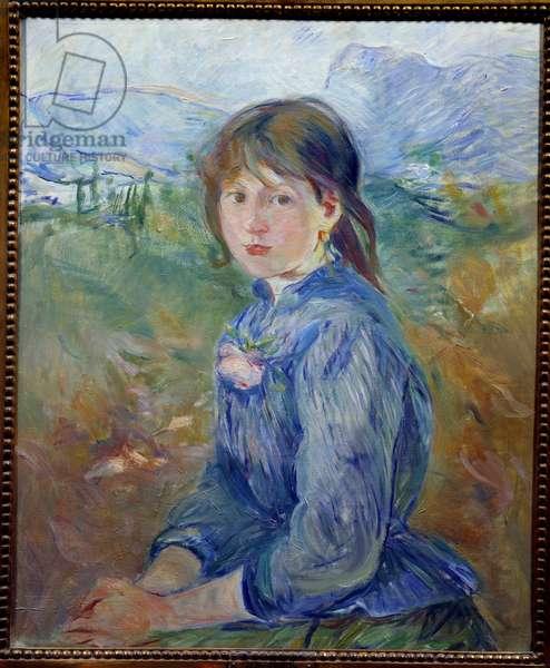 La petite nicoise Painting by Berthe Morisot (1841-1895) 1888 Sun. 0,64 X 0,52 m Lyon, Musee des Beaux Arts