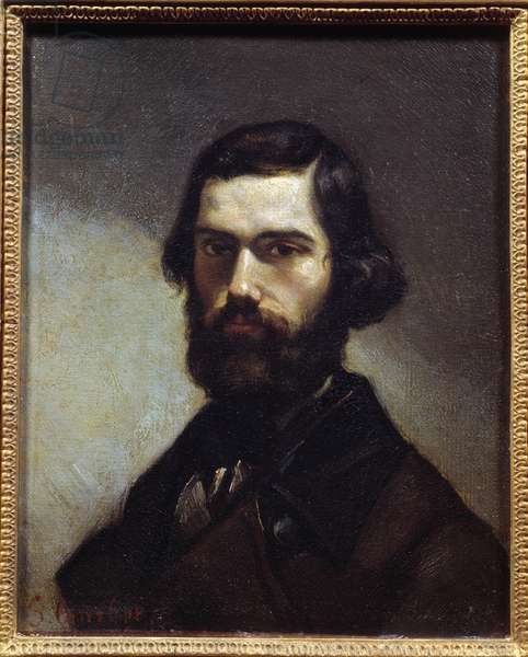 Portrait of Jules Valles (1832-1885) writer, journalist and politician. Painting by Gustave Courbet (1819-1877), 19th century. Oil on canvas. Dim: 0.27 x 0.22m. Paris, Musee Carnavalet