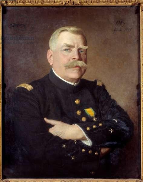 Portrait of Joseph Joffre (1852-1931) marechal of France. Painting by Henry Jacquier (1878-1921). 1915. Dim. 0,81 x 0,65 Versailles, Musee du Chateau