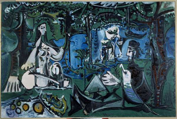 Breakfast on the grass, Vauvenargues Painting by Pablo Picasso (1881-1973) 1960 Sun. 1,3x1,95 m Paris, Musee Picasso