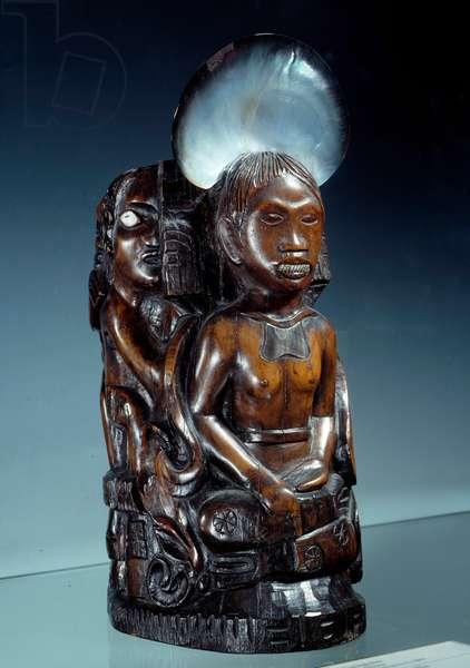 L'idol à la coquille Sculpture by Paul Gauguin (1848-1903) 1893 Paris, musee d'Orsay