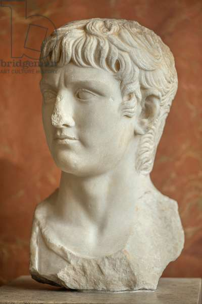 Art Rome Bust of the Roman General Germanicus (15 BC - 19 AD) marble
