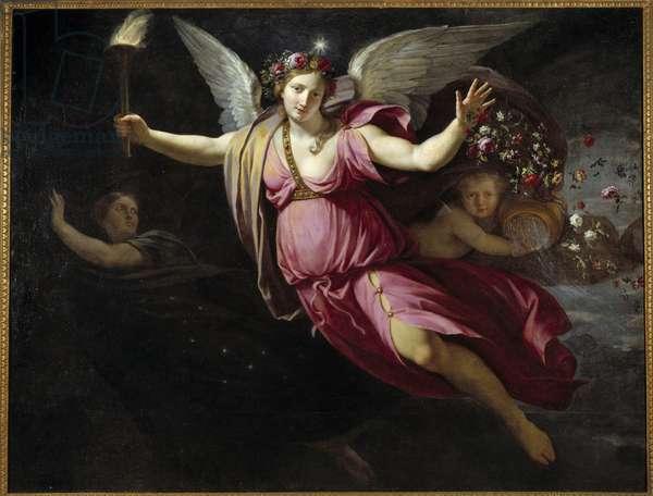 L'Aurore Painting by Jean Baptiste Champaigne (1631-1684) (ec.flam.) 1668 Sun. 1,44x1,89 m