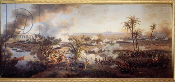 The Battle of the Pyramids, July 21, 1798 Painting by Louis Francois Lejeune (1775-1848) 1806 Sun. 1,8x2,5 m.