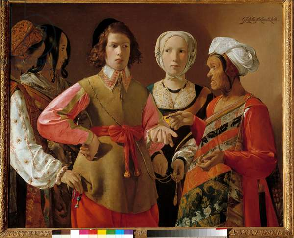 The fortune teller Painting by Georges de La Tour (1593-1652) circa 1630, Sun. 1,01x1,23 m New York. Metropolitan Museum