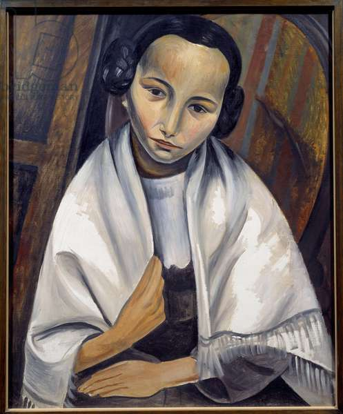 Portrait of a Girl Painting by Andre Derain (1880-1954) 1914 Sun. 0,61x0,5 m Paris, Musee Picasso