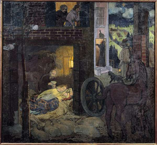 The nativity, 20th century (oil on canvas)