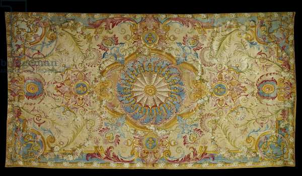 Furniture: carpet of Louis XIV's room made at the soap factory, 1728. Versailles, castle museum