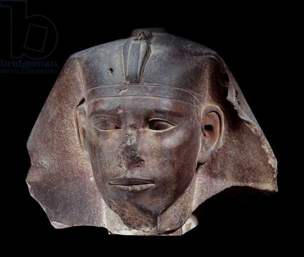 Royal head of Didoufri in quartzite. 4th dynasty (2620-2500 BC) Paris, Louvre Museum