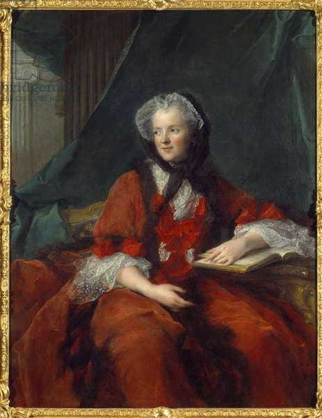 Portrait of Marie Lescszinska, Queen of France (Leczinska, Lescszinka or Leszinka, 1703-1768) - Painting by Jean Marc (Jean-Marc) Nattier (1685-1766)