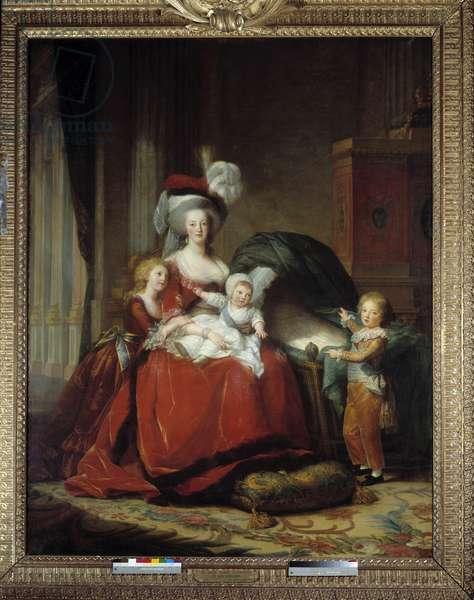 Portraits de Marie Antoinette (Maire-Antoinette) de Lorraine Habsbourg (1755-1793) reine de France et ses enfants, 1787 (oil on canvas)