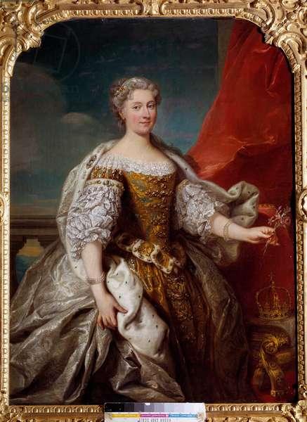 Portrait of Catherine Bnin Opalinska, wife of Stanislas Lescinski, Queen of Poland then Duchess of Lorraine and Bar (1680-1747) Painting by Jean Baptiste Van Loo (1684-1745) 1725 Sun. 1,41x1,12 m