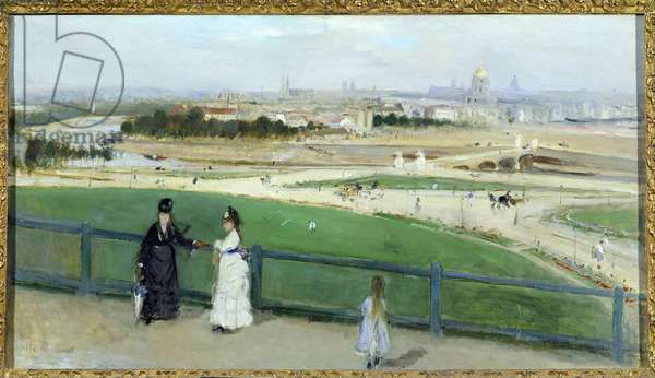 View of Paris from the heights of the Trocadero. Painting by Berthe Morisot (1841-1895), 19th century. Santa Barbara, Museum Of Art.