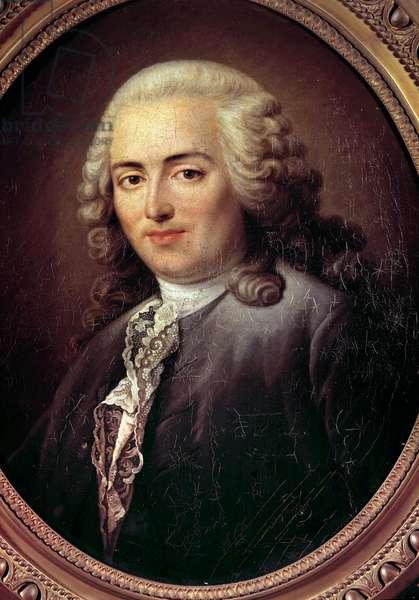 Portrait of Anne Robert Jacques Turgot (1727-1781) Minister Painting by Antoine Graincourt (1748-1823) 18th century Sun. 0,54x0,64 m