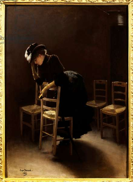 The prayer. Painting by Jean Beraud (1849-1935), 1883. Oil on canvas. Mention must be made: Reims, Musee Des Beaux Arts