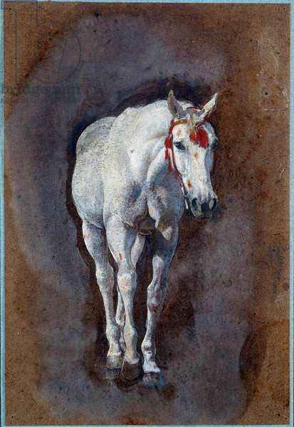 A Horse Drawing, 19th century (oil on canvas)