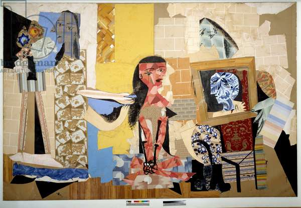 Women at Their Toilet Collage by Pablo Picasso (1881-1973). Dim. 0,30 x 0,44 m. 1938 Musee Pablo Picasso